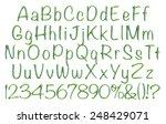 complete alphabet with digit... | Shutterstock . vector #248429071