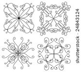 vector ornament collection   Shutterstock .eps vector #24843124