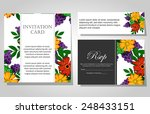 wedding invitation cards with... | Shutterstock .eps vector #248433151
