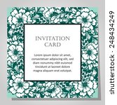wedding invitation cards with... | Shutterstock .eps vector #248434249