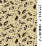 seamless pattern with floral... | Shutterstock .eps vector #248437219