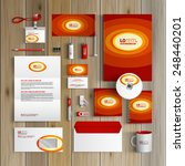 red corporate identity template ... | Shutterstock .eps vector #248440201