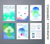 templates. set of web  mail ... | Shutterstock .eps vector #248440411