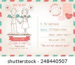 template for wedding invitation ... | Shutterstock .eps vector #248440507