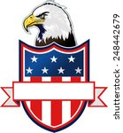 american eagle and flag | Shutterstock .eps vector #248442679