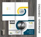 white classic brochure template ... | Shutterstock .eps vector #248445061