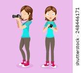 female photographer vector    Shutterstock .eps vector #248446171
