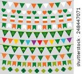 irish flag bunting and... | Shutterstock .eps vector #248447071