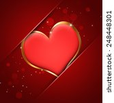 abstract red heart valentine... | Shutterstock . vector #248448301