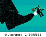 getting fired a businessman... | Shutterstock .eps vector #248455585