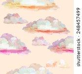 Colorful Pink Watercolor Cloud...