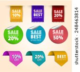 set of colorful sale banners in ... | Shutterstock .eps vector #248463814