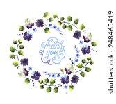 watercolor thank you words in... | Shutterstock .eps vector #248465419