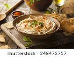 Healthy Homemade Creamy Hummus...