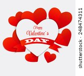 happy valentines day card.... | Shutterstock .eps vector #248474311