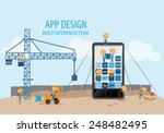 mobile app development ... | Shutterstock .eps vector #248482495