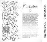 medical doodle background...   Shutterstock .eps vector #248485531