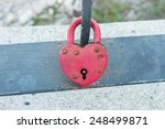 Heart Padlock Of Valentine Day