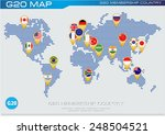 g20 country flags with worldmap ... | Shutterstock .eps vector #248504521