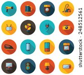 Set Of Flat Icons For Househol...