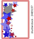Patriotic Border Design Page - stock photo