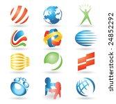 set of vector design elements 7 | Shutterstock .eps vector #24852292