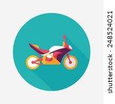 transportation motorcycle flat... | Shutterstock .eps vector #248524021