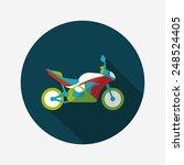 transportation motorcycle flat... | Shutterstock .eps vector #248524405