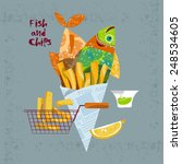 fish and chips. vector... | Shutterstock .eps vector #248534605