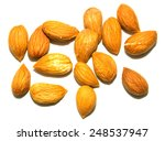 almond apricot on a white... | Shutterstock . vector #248537947