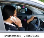 woman talking on the phone in... | Shutterstock . vector #248539651