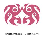 vector design tribal tattoo | Shutterstock .eps vector #24854374