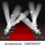 red carpet with spotlights | Shutterstock . vector #248544547