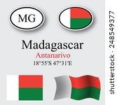 madagascar icons set against... | Shutterstock .eps vector #248549377