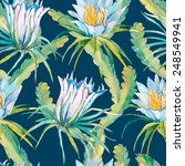 tropical seamless pattern.... | Shutterstock .eps vector #248549941