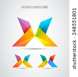 vector origami logo icons.... | Shutterstock .eps vector #248551801