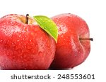closeup isolated juicy red apple | Shutterstock . vector #248553601