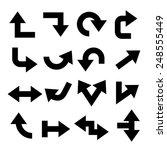 arrow buttons set | Shutterstock .eps vector #248555449