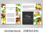 wedding invitation cards with... | Shutterstock .eps vector #248561341