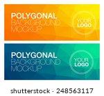horizontal polygonal banners | Shutterstock .eps vector #248563117