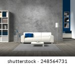 modern fictitious living room... | Shutterstock . vector #248564731