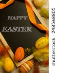 happy easter written on a... | Shutterstock . vector #248568805