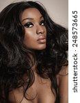 closeup of a beautiful african... | Shutterstock . vector #248573665