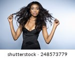 african young woman with long... | Shutterstock . vector #248573779