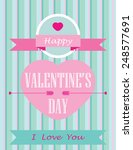 happy valentines day card with... | Shutterstock .eps vector #248577691