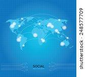 vector world map. | Shutterstock .eps vector #248577709