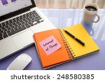 message on paper with word... | Shutterstock . vector #248580385