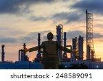 double exposure of business man ... | Shutterstock . vector #248589091