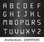 silver metal letters  | Shutterstock .eps vector #248590585