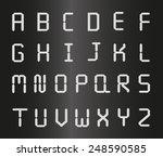 silver metal letters  | Shutterstock .eps vector #248590585